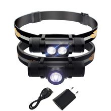 xm l2 led headlamp USB headlight waterproof 18650 head flashlight Head torch led head lamp camping rechargeable lampe frontale super 45000lm usb 9 led led headlamp headlight head flashlight torch xm l t6 head lamp rechargeable for 18650 battery
