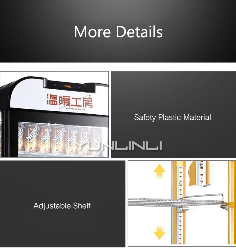 Isolation commerciale armoire de chauffage présentoir boisson vitrine conservation de la chaleur boîte boisson armoire SR 65 - 5