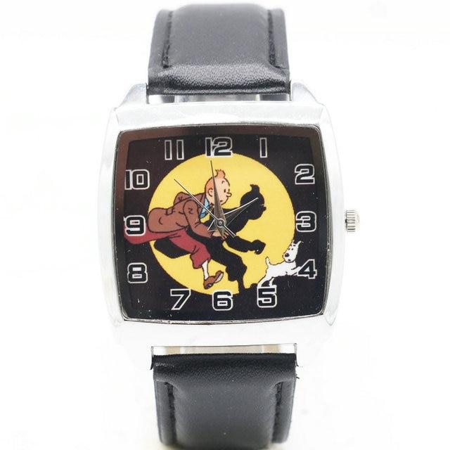 1pcs/lot Wholesale NEW Cartoon Children TinTin Watch Good Gift kids watch