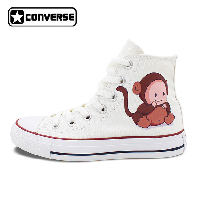 9a1df1e3a2 Unisex White Converse Chuck Taylor Babies with Lovely Animal Costumes High  Top Canvas Sneakers Gifts Birthday Presents-in Skateboarding Shoes from ...