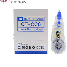 TUNACOCO 6mm*6m TOMBOW Transparent Correction Band Student Change Tape Articles School Office Stationeries qt1710085