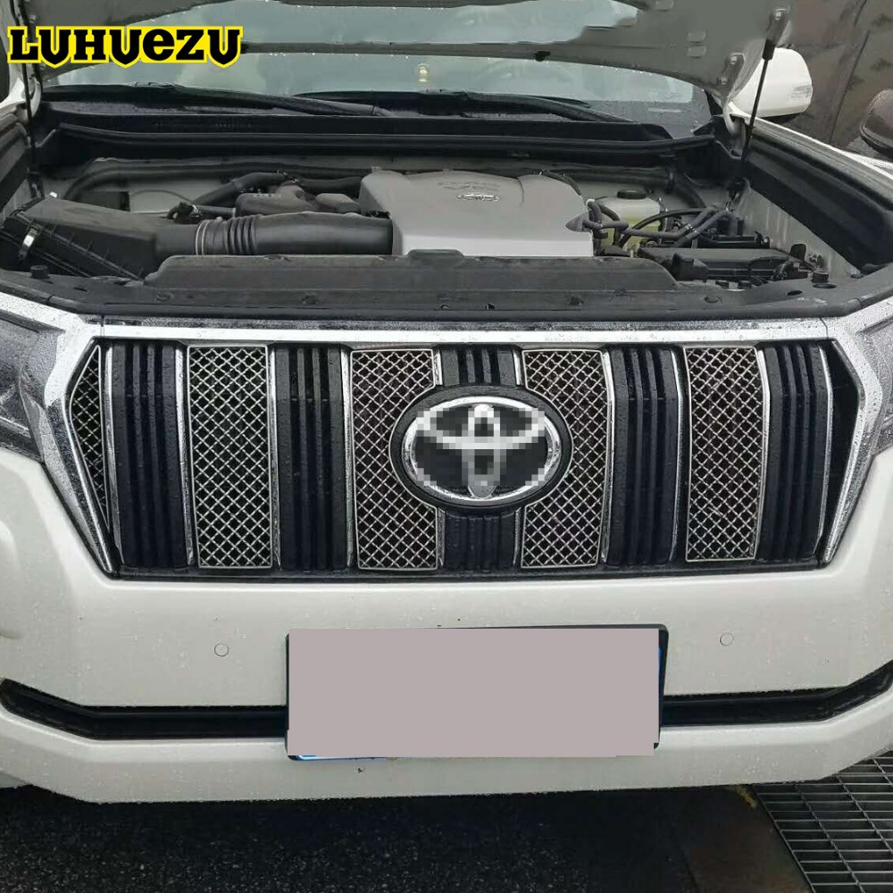 Car Insect Screening Mesh Front Grille For Toyota Land Cruiser Prado 150 2018  FJ150 Accessories for toyota fj cruiser 2007 13 double