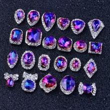 10Pcs/Lot 3D Charms Rainbow Crystal Diamonds nail stone strass rhinestones glitter art 3d decoration jewelry, HTY3906-3925