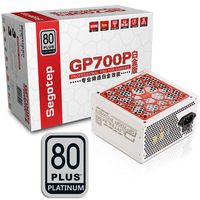 Segotep 600W GP700P ATX PC Computer Power Supply Desktop Gaming PSU 80Plus Platinum Active PFC DC DC 94% Efficiency Universal