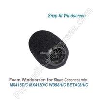 Pro Snap-Fit Foam Windscreens for Shure MX412 MX418 WB98 BETA98 Instrument Gooseneck Microphone