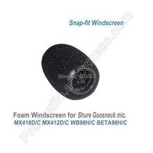 Pro Snap Fit Schuim Voorruiten voor Shure MX412 MX418 WB98 BETA98 WB98 Instrument Zwanenhals Microfoon