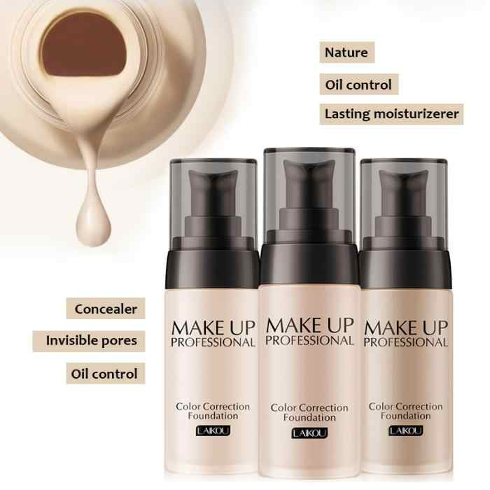 Fond de teint liquide maquillage Base longue durée hydratant femmes Nude visage couverture correcteur visage proche soins de la peau