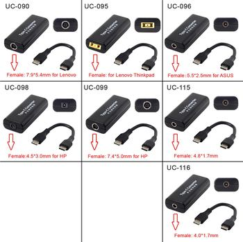 10pcs/lot  Jack Input to USB-C Type-C Power Plug Charge Cable 45w for Macbook Laptop Phone