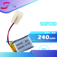 1 pc 3.7V 240mAh 30C LiPo Battery 502030 For 6020 Syma S107 S108 S109 S026 rc Helicopter rc quadcopter(China)