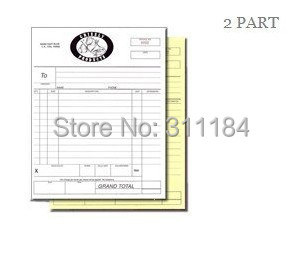 Custom Size Or A A Size Carbonless Receipt Invoice Book NCR Quote - Custom invoice book