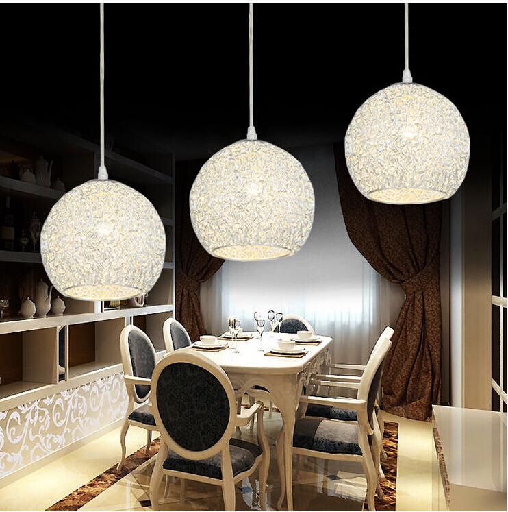 Modern Aluminium Wire Ball Pendant Light Suspension Lamp