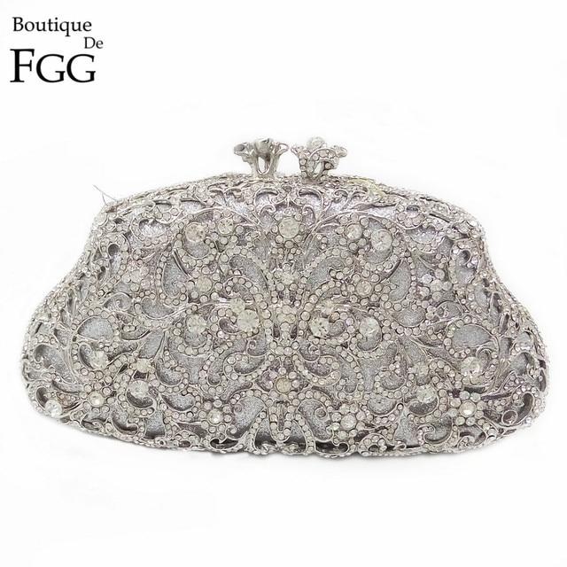 Gift Box Pack Socialite Mini Evening Crystal Clutch Womens Rhinestone Handbags Party Fl Purse Shoulder Bags