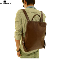 New 2015 Casual Leather Male Student Backpack Men Backpacks Men S Travel Bags School Backpacks