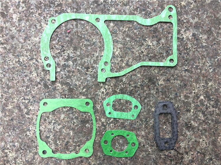 COMPLETE GASKET SET FITS CHINESE   6200 & MORE  62CC  CHAINSAW CARB MUFFLER CYLINDER CRANKCASE CARBUERTOR GASKETS 5 PCS PACK