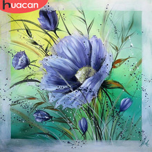 HUACAN Diamond Painting Flowers 5D DIY Embroidery Mosaic Cross-stitch Picture Rhinestone Art Crafts Sewing