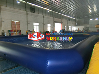 Large water park Huge pool of fun Inlet and outlet filtration circulation hole Inflatable pool
