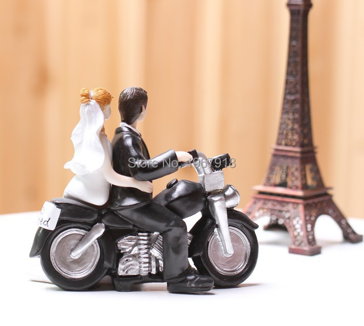 Free Shipping Bride & Groom Resin Cake Topper Just Married Wedding ...