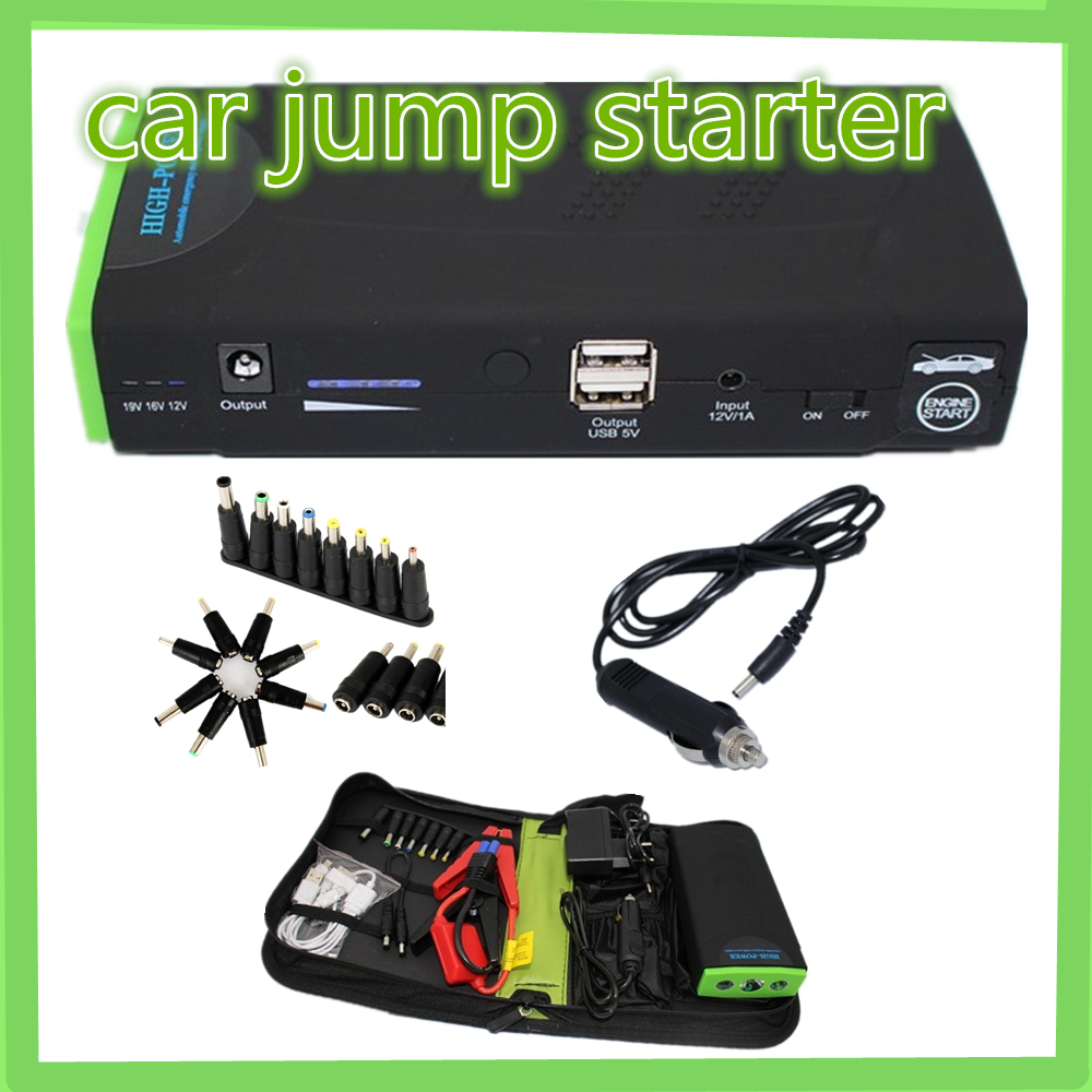 Top sell Car jump starter large power 12 V multi function car power bank Free Shipping