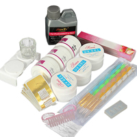 Nail Gel Acrylic Nail Art Set Liquid Polymer Powder UV Gel Tips Forms Manicure Tool Kit Nail Gel