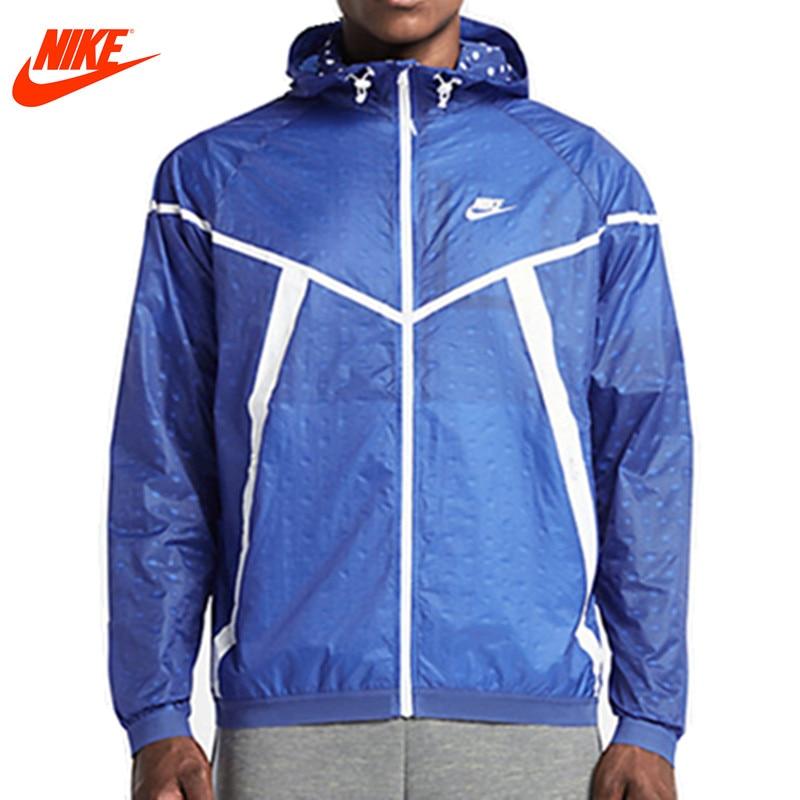 Nike original men spring windproof jacket Windrunner Black jacket 642967-480 authentic nike men s coat spring new windproof jacket windrunner training