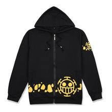 23a8ca6a5d0e Anime One Piece Trafalgar Law Cosplay Hoodie Unisex One Piece Costume  Sweatshirts Casual Zipper Jacket Autumn