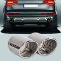 Выхлопная труба beler для Audi Q7 3 0 TDI TFSI 2006 2007 2008 2009 2010-2013  2 шт.  хромированная нержавеющая сталь