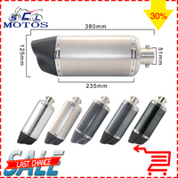 Sclmotos Motorcycle Inlet 51mm Akrapovic Yoshimura Exhaust Pipe Muffler Pipe GP Escape Moto Racing Fit For