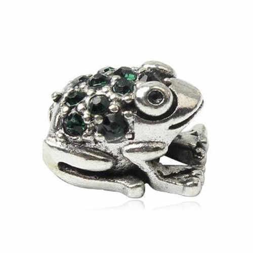 Pendentif colliers cristal creux grenouille père noël feuilles amour coeur perles Fit Pandora charmes bracelets pour femme bijoux à bricoler soi-même