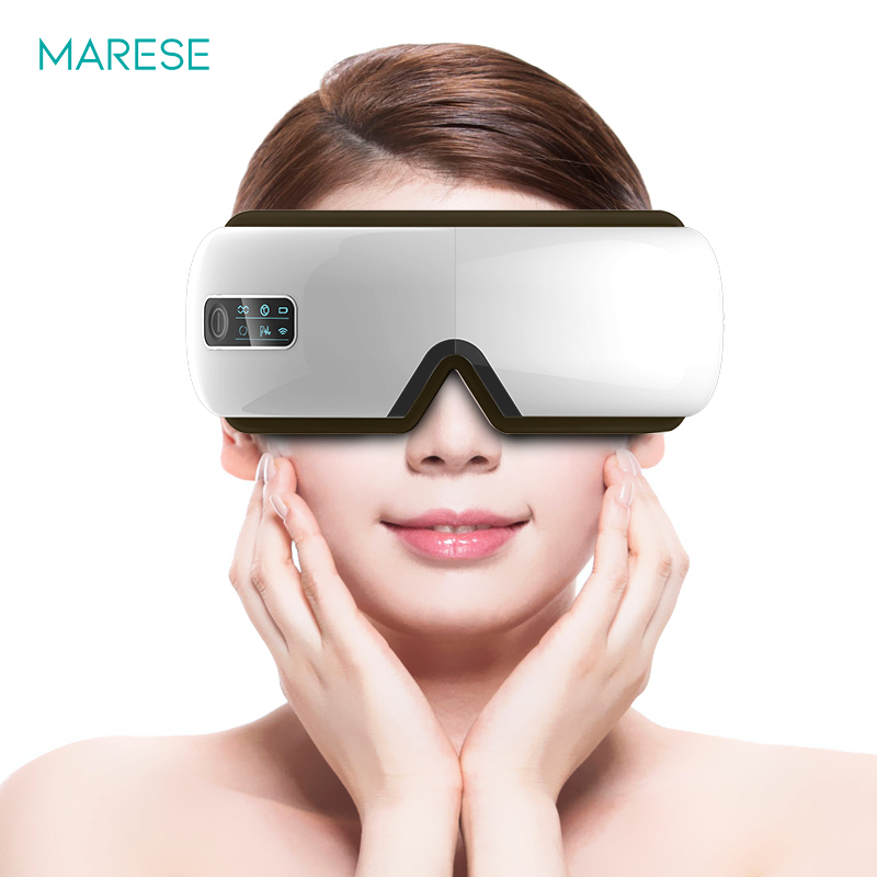 Eyes Massager Electric Machine Air Pressure Vibration Heated Massage Rechargeable Wireless Usb Bluetooth Music Massagem Glasses