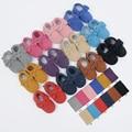 Bebé mocasines blandos Moccs zapatos de bebé recién nacido bebé firstwalker antideslizante cuero genuino de la vaca zapatos infantiles Footwear-12 colores