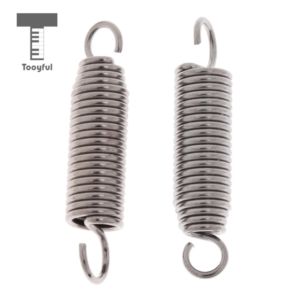 Tooyful 2 Pieces Stainless Steel Bass Drum Pedal Springs Hammer Mallet Springs For Drummer Assembly Drum Hardware 55mm/2.16inch