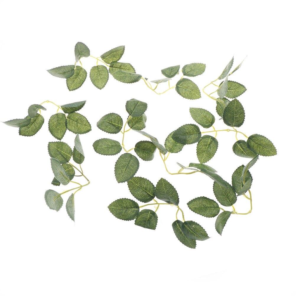 50 pçs/10 conjuntos verde folha artificial flor para o casamento decoração de casa folhagem diy scrapbooking artesanato falso flor