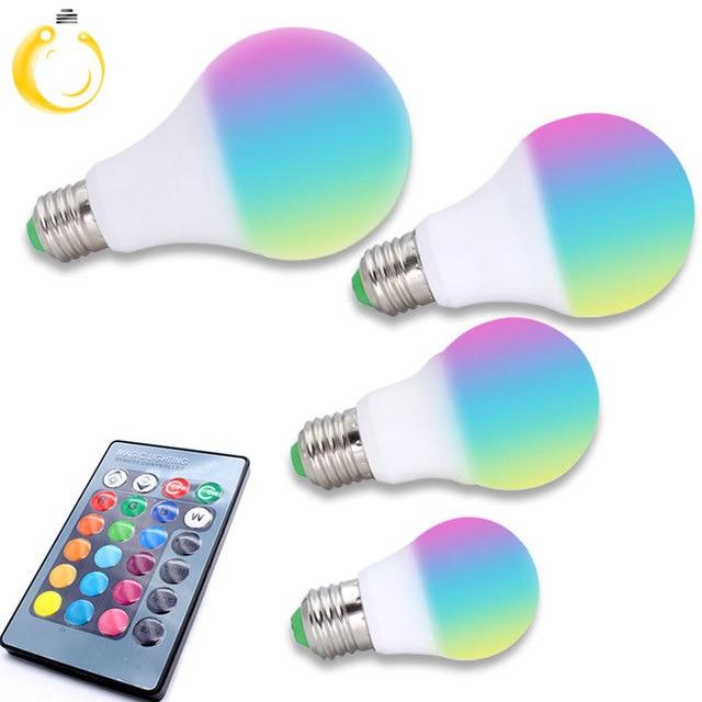 laagste prijs e27 rgb led lamp 3 5 7 w 16 kleur veranderen lamp led spotlight
