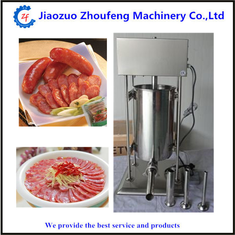 10L household vertical sausage stuffer stainless steel sausages maker meat filling machine