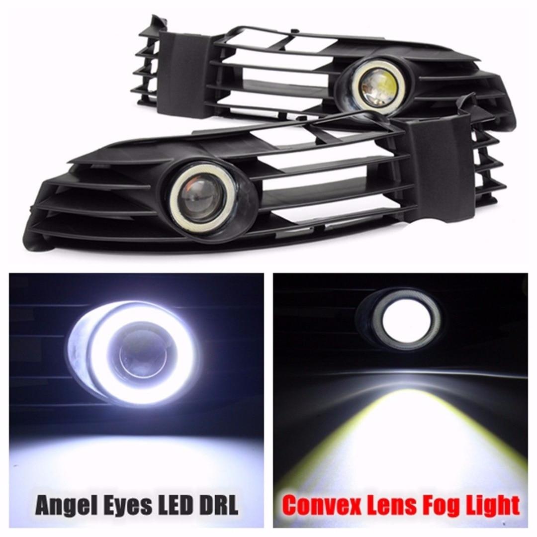 JXLCLYL 1SET Front Bumper Grille Fog Light With LED DRL For VW Passat B5 B5.5 2001-2005 ...