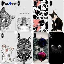 Cat Case For iPhone X 8 4 4S 5 5S SE 5C 6 6S 7 Plus Silicone For Xiaomi Redmi 4 4A 3S 3 S Note 3 4 5A Pro Prime 4X Mi A1 5X S2