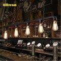 5 головок воды Эдисона лампы личности кафе бар Бар Американский Промышленный Склад Лофт трубопровод droplight восстановление древних способов