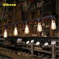 5 головок воды Эдисона лампы личность кафе бар Американский Промышленный Склад чердак трубопровод droplight восстановление древних способов