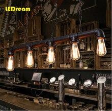 Nordic ikea Edison bulbs personality cafe bar bar American industrial warehouse loft conduit droplight restoring ancient ways торшер ikea ikea