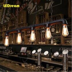 5 head water  Edison bulbs personality cafe bar bar American industrial warehouse loft conduit droplight restoring ancient ways
