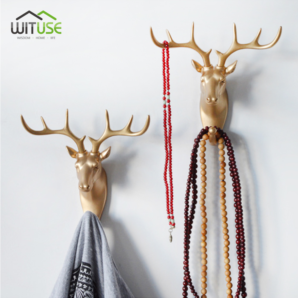 Animal Horse Head Wall Hook Animal Ornaments Statues Sculptures Decorative Coat Hat Key Hanging Rack For Home Decor Resin Crafts