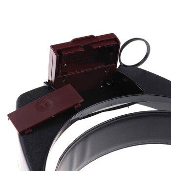 2 Led ışık Kulaklık 10 X Büyüteç Kafa Büyüteç Lens Büyüteç Ile Led ışık El Sanatları/Tamir