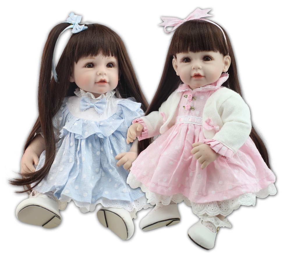 ФОТО High Quality new design 20inch ,50cm reborn todder doll girl doll Vinyl Toys with Soft Cotton Bodyn for birthday gifts