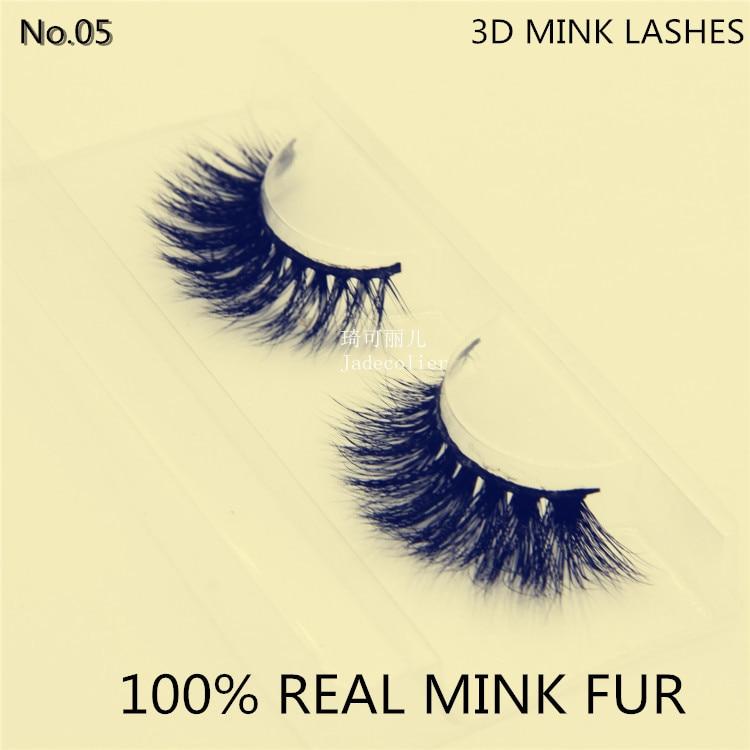 جديد 1 زوج أزياء نمط 3D 100 ٪ فرو المنك - ميك أب