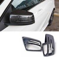 W212 углерода Волокно заменить Тюнинг автомобилей Крыло зеркала Накладка для Mercedes Benz W212 E200 E260 E300 2010 2013
