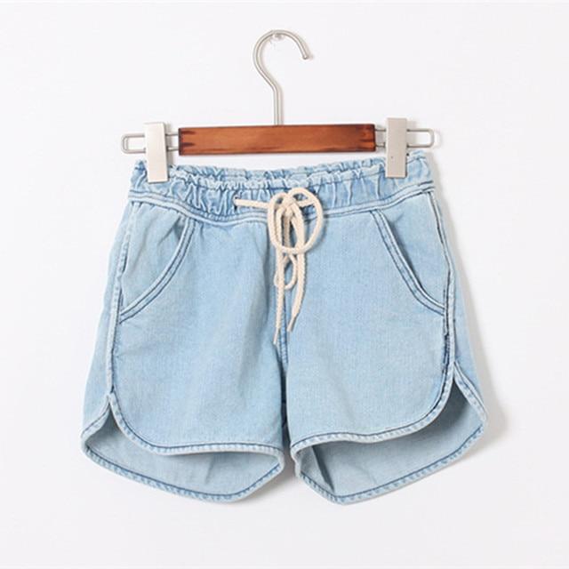 2016 Nueva Dama de La Moda Caliente Pantalones Cortos Mujeres Pantalones Cortos de Verano Suelta de Algodón Color Sólido Corto femeninos Ocasionales Cortocircuitos Delgados D986