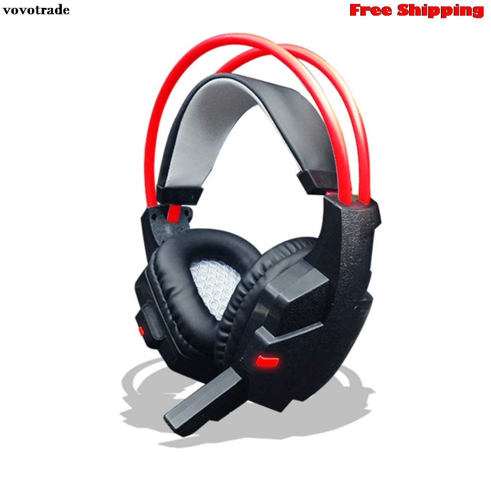 toopoot Surround Stereo Gaming Headset Headband Headphone USB 3.5mm LED with Mic for PC headphones earphones for mp3 for iphone computer game headphone stereo surround earphones gaming headset with mic stereo bass led light headphones for pc game dota ps4