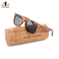 AP Zebra Wood Sunglasses Brand Designer Original Wood Polarized Sun Glasses Handmade Wooden Eyewear Glasses For