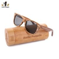 AP Zebra Wood Sunglasses Brand Designer Original Wood Polarized Sun Glasses Handmade Wooden Eyewear Glasses For