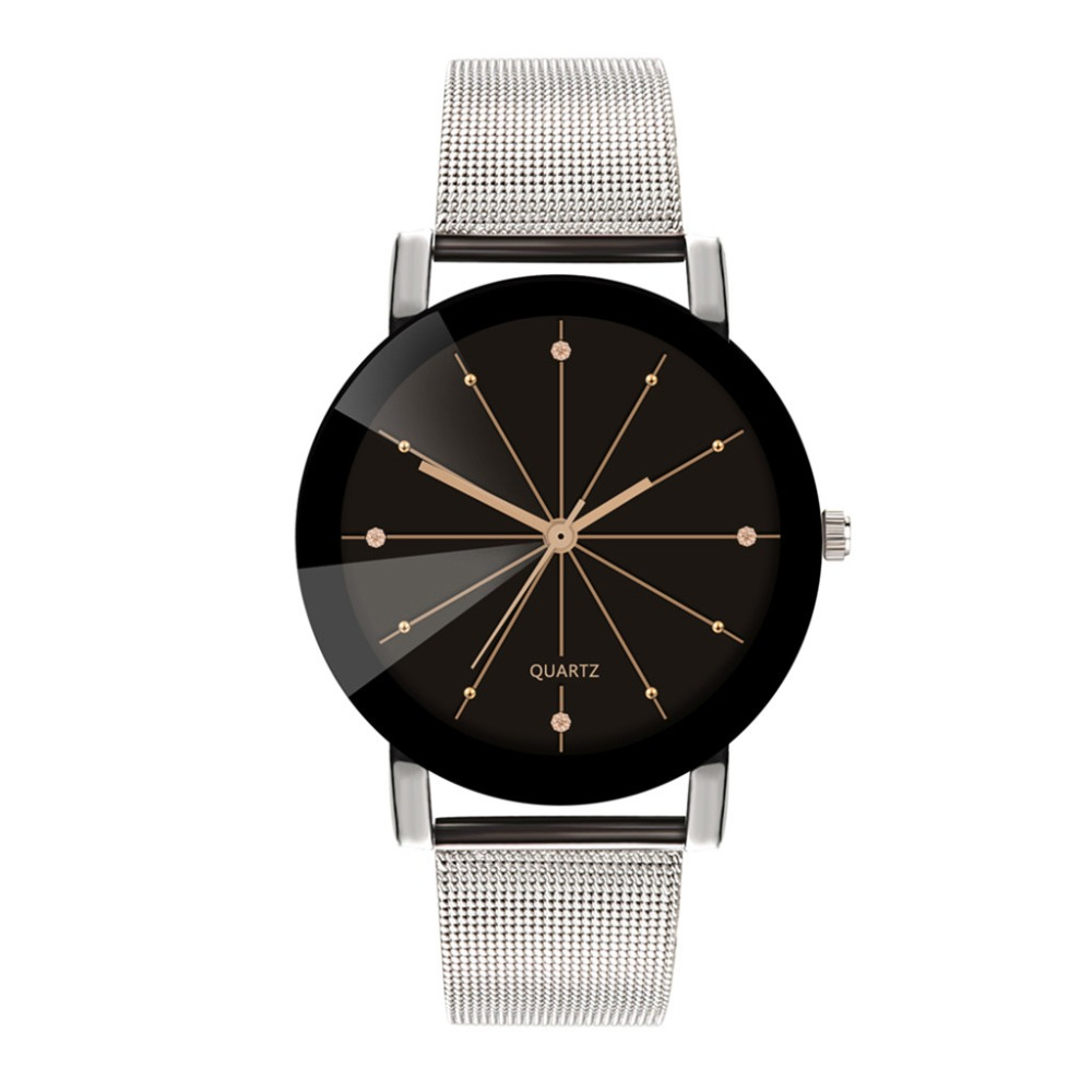 Fashion Women Men Couple Watches Lovers Wrist Watch Luxury Quartz Stainless Steel Mens Clock Gifts Relogio Masculino Montre Homm